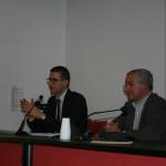 L'avv.A.Pizzato a sinistra, a destra il dott.P.O.Carli